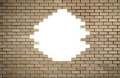 Muro di mattoni con il foro Immagine Stock Libera da Diritti