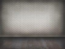 Muro di mattoni con il pavimento di calcestruzzo Immagini Stock