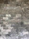 Muro di mattoni con l'argento ed il gray di colore fotografia stock