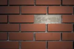 Muro di mattoni con lo spazio della rottura Immagini Stock