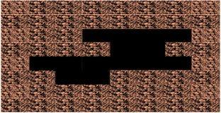 Muro di mattoni con un foro Immagine Stock