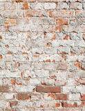 Muro di mattoni consumato Immagini Stock Libere da Diritti