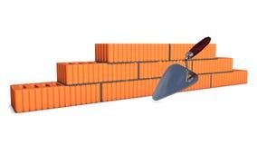 Muro di mattoni in costruzione illustrazione di stock