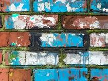 Muro di mattoni decorato antico dell'illustrazione di vettore royalty illustrazione gratis