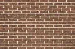 Muro di mattoni del Brown Immagini Stock Libere da Diritti