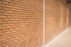 Muro di mattoni del Brown Immagini Stock