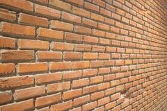 Muro di mattoni del Brown Fotografia Stock Libera da Diritti