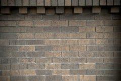 Muro di mattoni del Brown Fotografie Stock