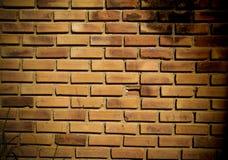 Muro di mattoni del Brown calcestruzzo, vecchio fotografia stock
