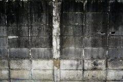 Muro di mattoni del cemento Fotografie Stock Libere da Diritti