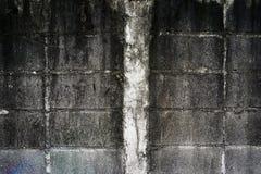 Muro di mattoni del cemento Fotografia Stock