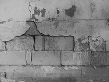 Muro di mattoni del cemento con pittura Immagini Stock Libere da Diritti