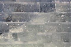 Muro di mattoni del ghiaccio Immagine Stock