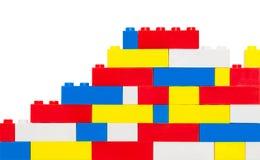 Muro di mattoni del giocattolo immagini stock libere da diritti