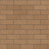 Muro di mattoni del Tan Fotografie Stock