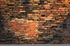 Muro di mattoni dell'annata fotografia stock libera da diritti