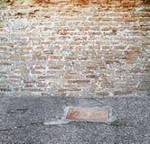 Muro di mattoni dell'annata Fotografia Stock