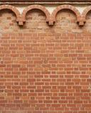 Muro di mattoni dell'annata con il reticolo Fotografia Stock