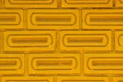 Muro di mattoni dell'oro Fotografie Stock