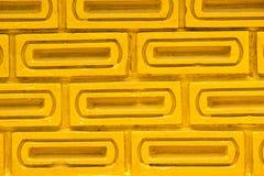 Muro di mattoni dell'oro Fotografia Stock Libera da Diritti