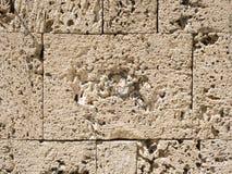 Muro di mattoni della sabbia Fotografie Stock