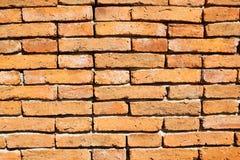 Muro di mattoni di Brown Fotografie Stock