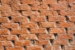 Muro di mattoni di colore rosso arancione Fotografia Stock