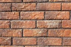 Muro di mattoni di colore rosso. Cenni storici. Fotografie Stock