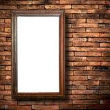 Muro di mattoni di legno del blocco per grafici Immagini Stock