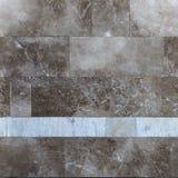 Muro di mattoni di marmo, struttura senza cuciture, mattonelle Fotografia Stock