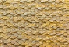 Muro di mattoni di pietra della sabbia Immagini Stock Libere da Diritti