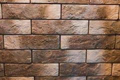 Muro di mattoni di pietra di struttura delle mattonelle Fotografia Stock