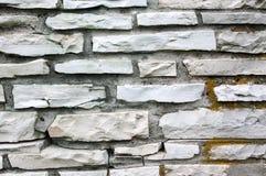 Muro di mattoni di pietra di struttura delle mattonelle Fotografie Stock Libere da Diritti