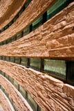 Muro di mattoni di pietra e di vetro Fotografia Stock Libera da Diritti
