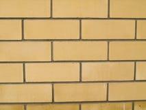 Muro di mattoni di Yelow Immagine Stock