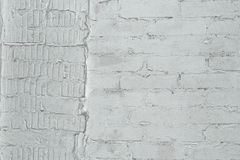 Muro di mattoni dipinto nel grey Fotografia Stock