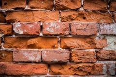 Muro di mattoni distrusso Fotografie Stock