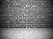 Muro di mattoni e pavimento della pietra fotografie stock libere da diritti