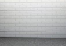 Muro di mattoni e pavimento di calcestruzzo Immagini Stock