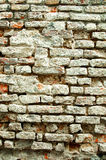 Muro di mattoni esposto all'aria Fotografie Stock Libere da Diritti