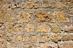 Muro di mattoni giallo Immagine Stock Libera da Diritti