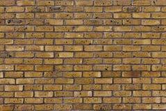 Muro di mattoni giallo Fotografia Stock