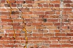 Muro di mattoni granuloso Immagine Stock