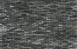 Muro di mattoni grigio Fotografia Stock
