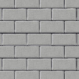 Muro di mattoni grigio Immagine Stock