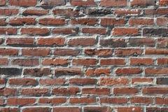 Muro di mattoni grigio nero del Brown vecchio Immagine Stock Libera da Diritti