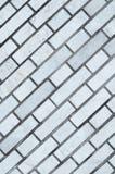 Muro di mattoni grigio per fondo e struttura Fotografia Stock Libera da Diritti
