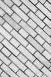 Muro di mattoni grigio per fondo e struttura Fotografie Stock