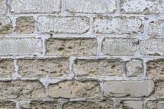 Muro di mattoni Grungy con struttura di strato dello stucco Immagini Stock Libere da Diritti
