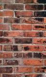 Muro di mattoni Grungy messo con il mortaio antiquato Fotografia Stock Libera da Diritti